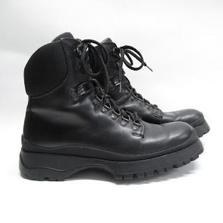 Prada Sport Black Leather Hiking Boots