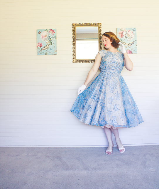 Vintage 1950's evening look | Lavender & Twill