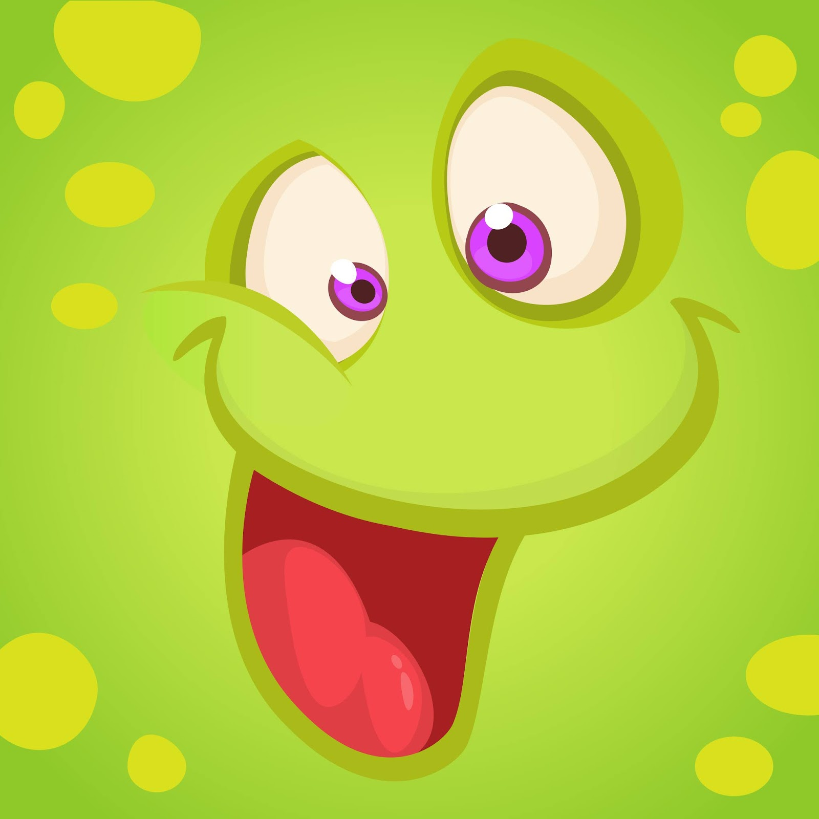 Monster Face Funny Free Download Vector CDR, AI, EPS and PNG Formats