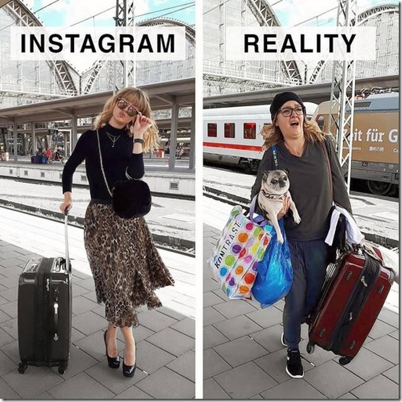 Instagram Vs Realidad, fotos de una mujer alemana