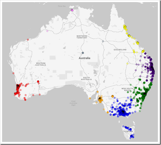 Clusters - Australia