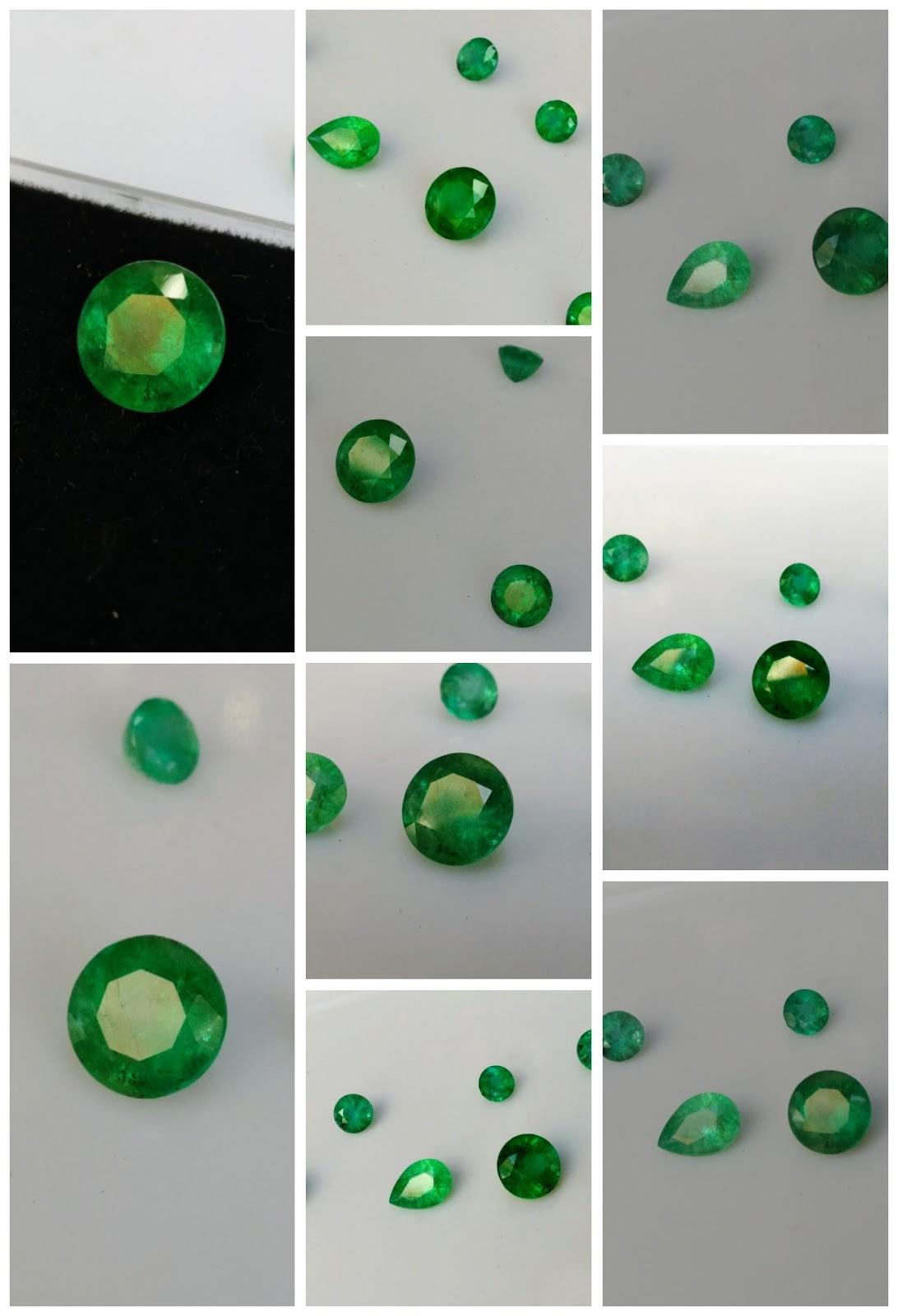 Đá Emerald Ngọc Lục Bảo thiên nhiên mài tròn