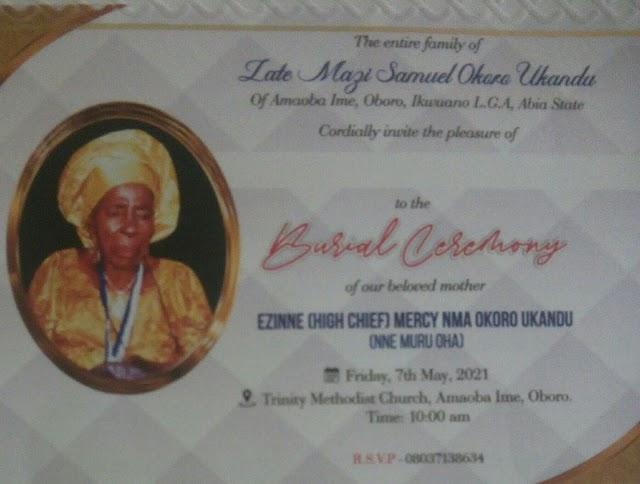 Nne Muru Oha, High Chief Mercy Goes Home