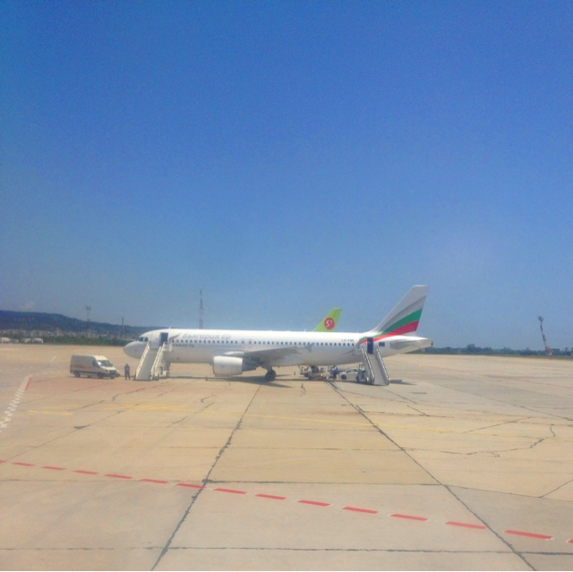 Picture of Bulgaria Air in Varna Airport, Bulgaria.