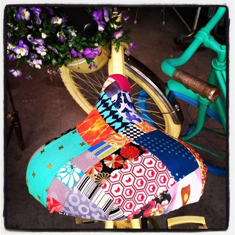 Scrappy Patchwork Bike Seat
