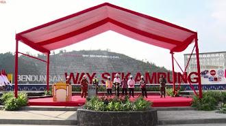 Presiden Meresmikan Bendungan Way Sekampung di Pringsewu