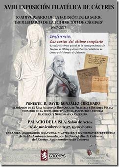 CARTEL CONFERENCIAS EXPOSICION DAVID