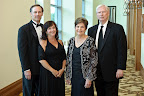 Texas Health Cleburne President Blake Kretz, Lori Kretz, Kay Walls and Sam Walls