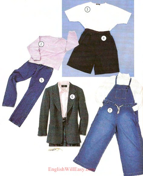 Everyday Clothes Online Dictionary For Kids