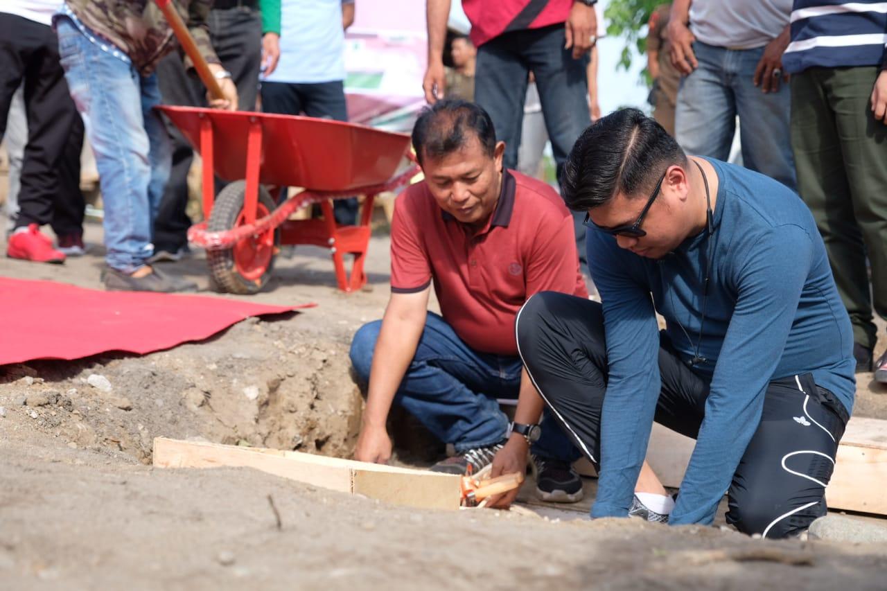 Bupati Adnan Meletakkan Batu Pertama Pembangunan Skate Park di Gowa