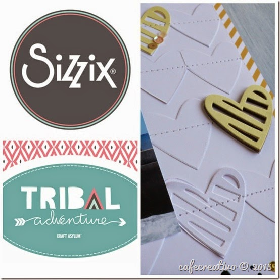 cafe creativo - craft asylum - sizzix big shot plus - scrapbooking - tribal