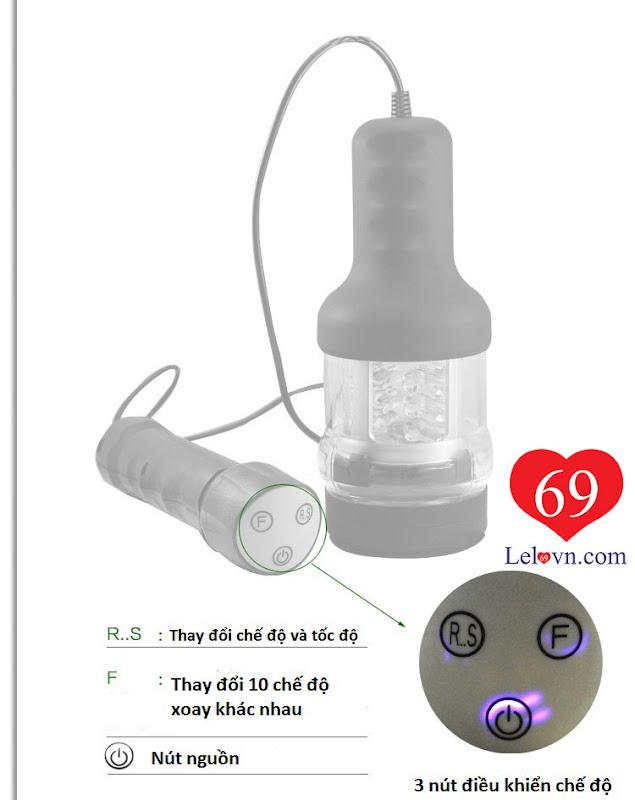 Sản phẩm có 3 nút điều khiển dễ dàng sử dụng