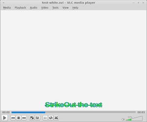 StrikeOut 中線設定,以 1 為使用,0 為不使用