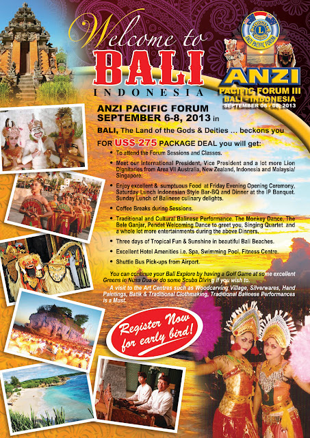 ANZI-Pacific Forum in Bali, Indonesia Sept 6 - 8, 2013
