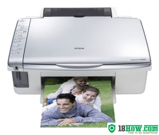 How to reset flashing lights for Epson DX4800 printer