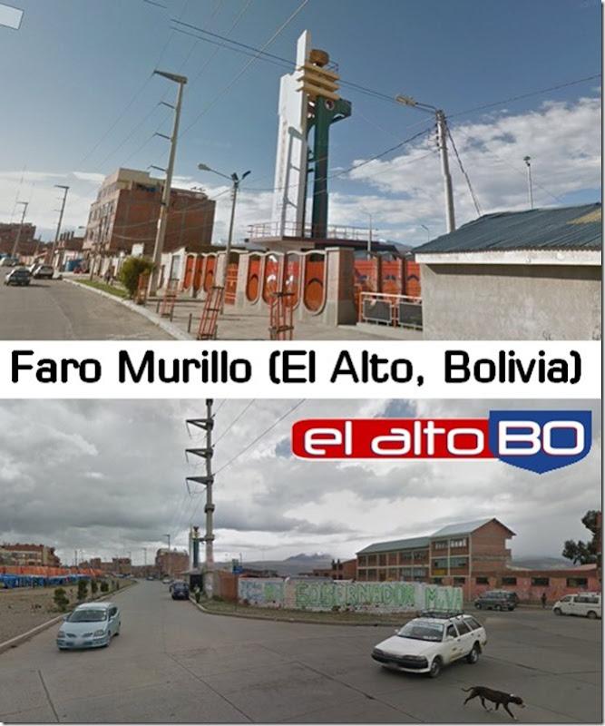 Faro Murillo: zona del Distrito 1 de El Alto