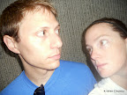 Mike and I with our serious pre-game runner faces on.