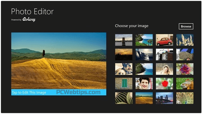 Photo Editor windows 8.