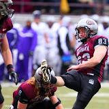Brody McKnight kicks a field goal following a touchdown.
