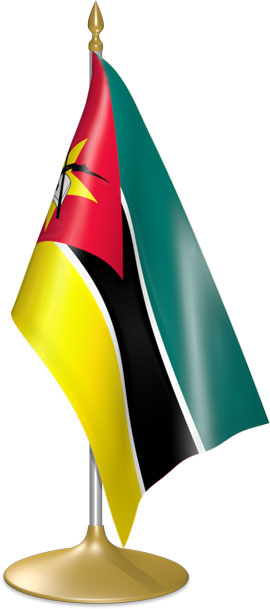 Mozambican table flags - desk flags