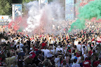Szurkolók a franciaországi labdarúgó Európa-bajnokság Magyarország - Portugália mérkőzését, 2016. június 22-én. (MTI Fotó: Ruzsa István)
