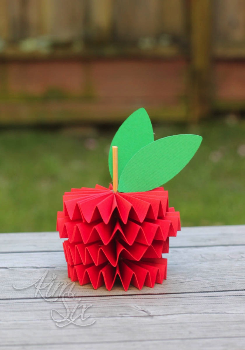 Cardstock folded apple
