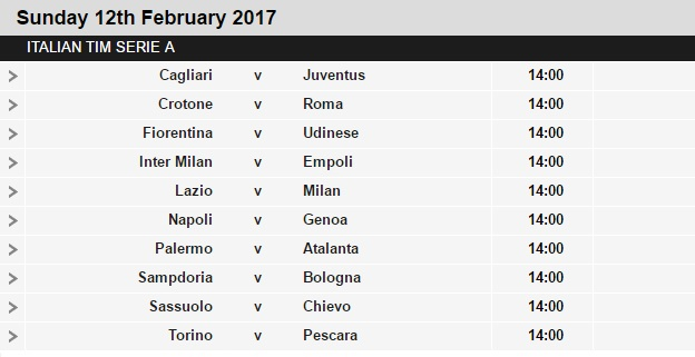 Serie%2BA%2Bschedule%2B24 Planning a Football Trip to Italy - SERIE A FIXTURES 2016/17