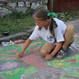Malování na chodníku - 30.8.2008