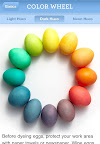 Martha Stewart Easter Eggs 101: One of three beautiful color wheels.