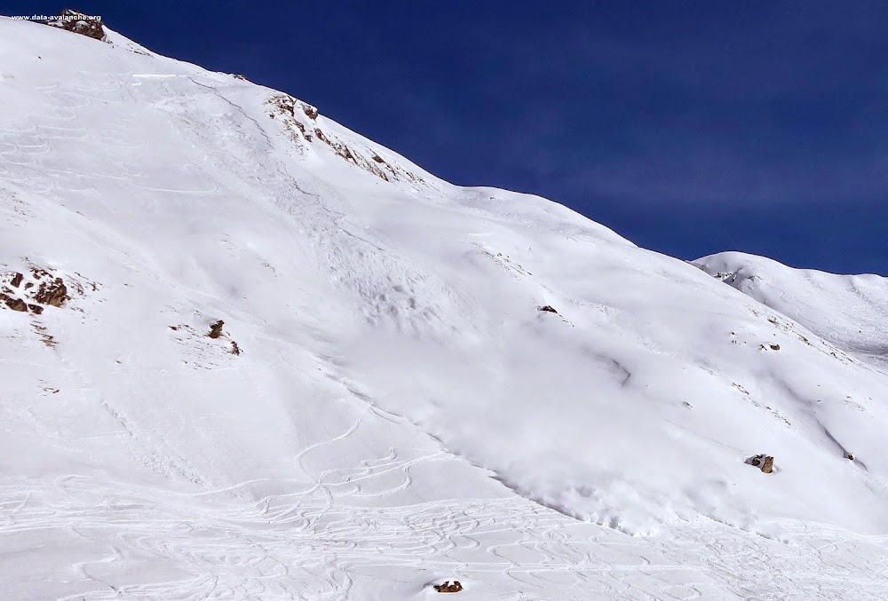 Avalanche Haute Tarentaise, secteur Val d'Isère, Pentes de la Madeleine - Photo 1