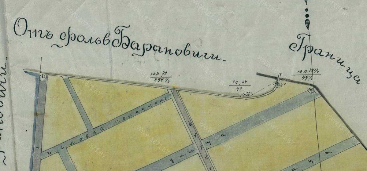 Граница Розвадова и имения на плане 1892 года.