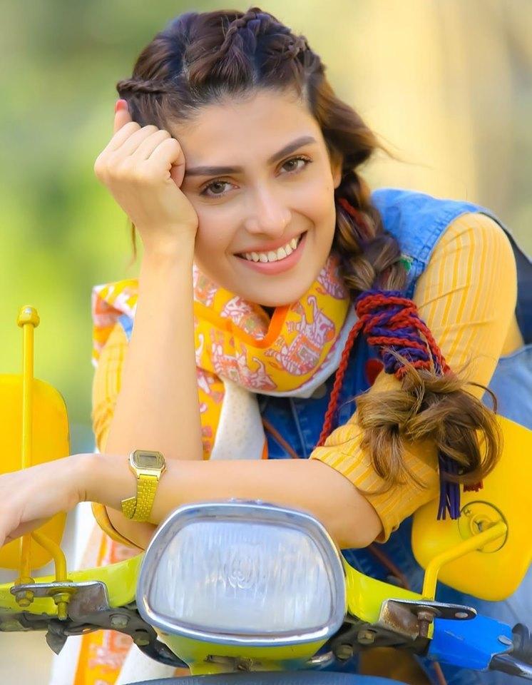 Actress Ayeza Khan for Eid Telefilm Vespa Girl