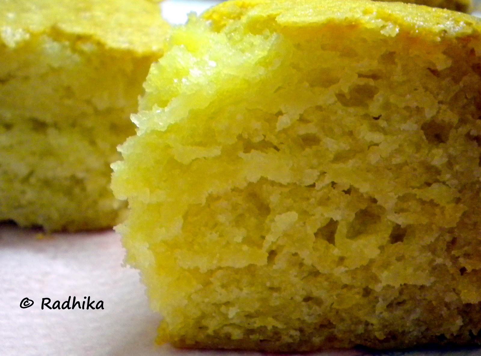 Vanilla Idli Cake