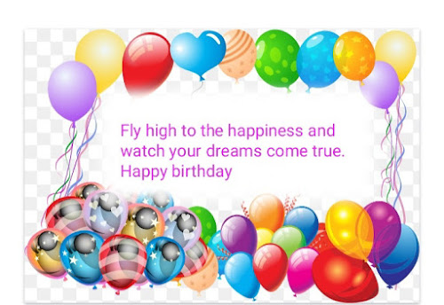 Birthday wishes for son with balloons, Happy birthday quotes for kids.