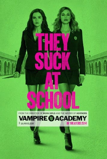 Poster Of Vampire Academy (2014) Full Movie Hindi Dubbed Free Download Watch Online At Alldownloads4u.Com