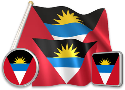 Antiguan flag animated gif collection