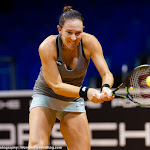 STUTTGART, GERMANY - APRIL 16 : Madison Brengle in action at the 2016 Porsche Tennis Grand Prix