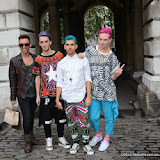 WWW.ENTSIMAGES.COM -  Band called Plastic  and Tommy Gray  at     LFW Somerset House London September 14th 2013                                                  Photo Mobis Photos/OIC 0203 174 1069