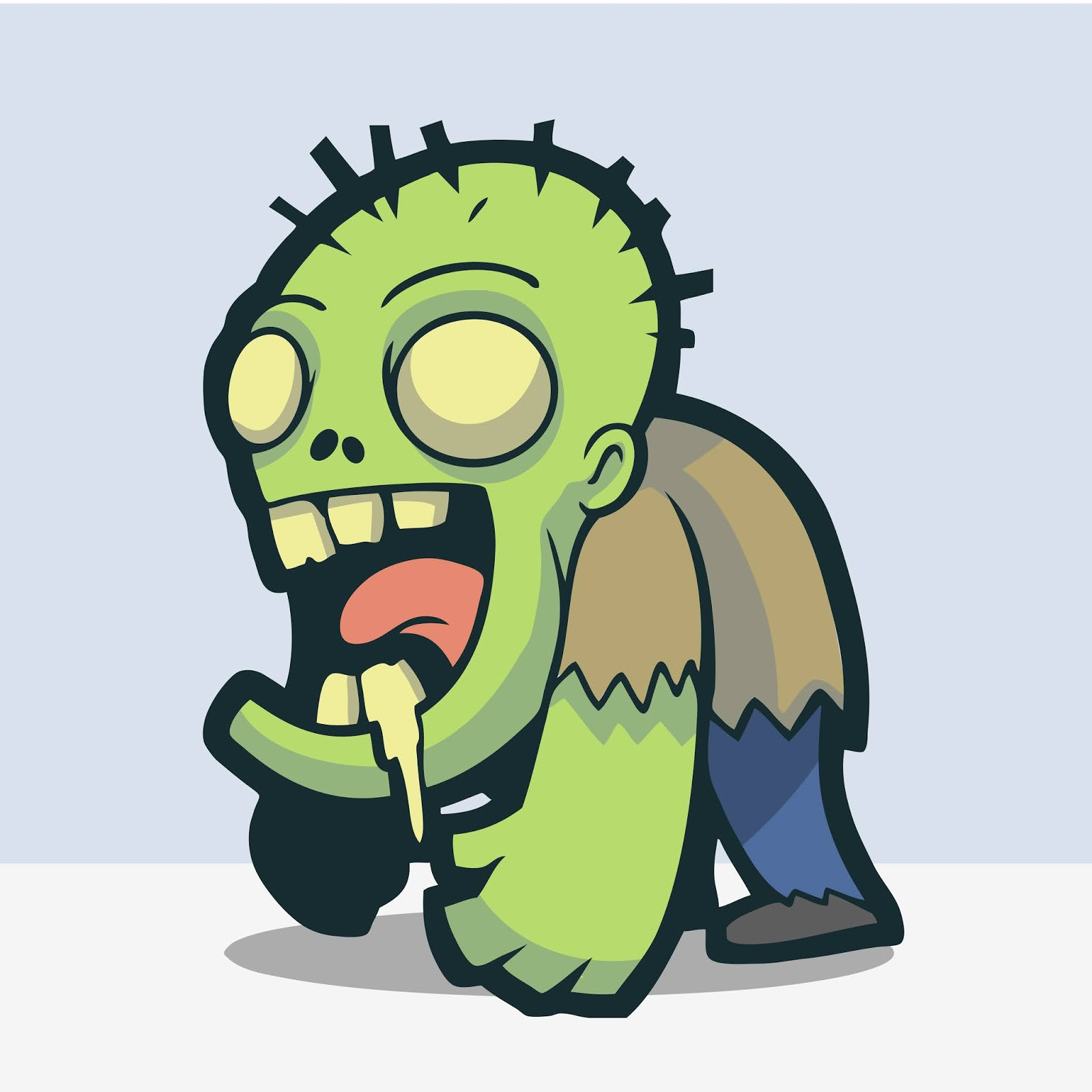 Adorable Cute Zombie Free Download Vector CDR, AI, EPS and PNG Formats