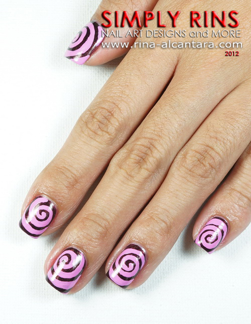 Swirls Nail Art Design
