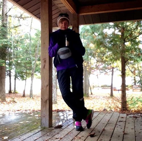Fall camping at Bonnechere Provincial Park, Round Lake, Ontario