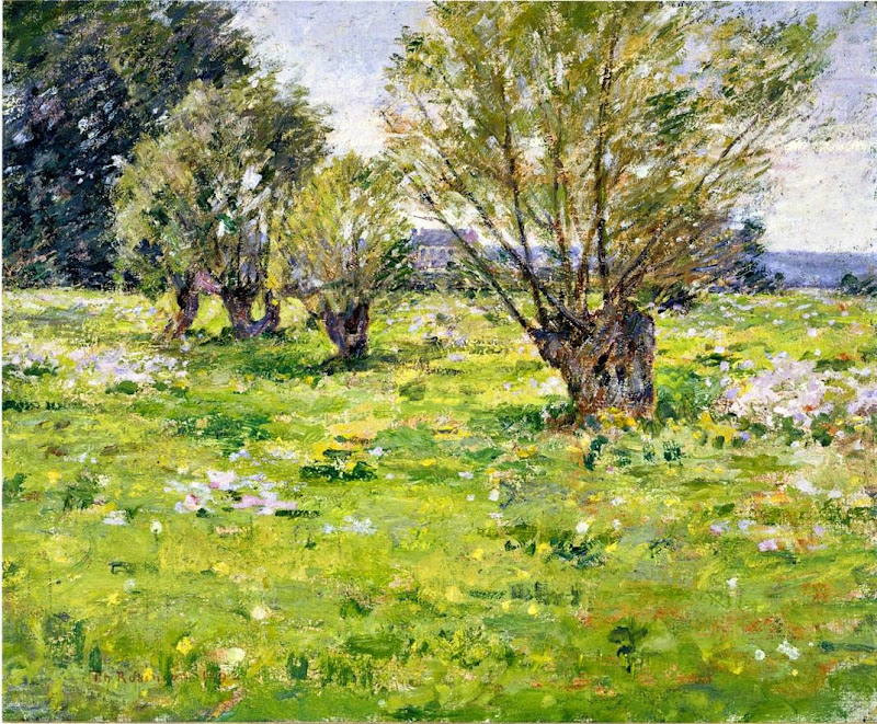 Theodore Robinson - Willows and Wildflowers