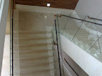 Marble staircase, Glass Handrail