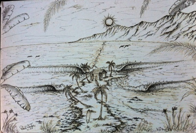 Surf,art,drawing,surfart,sanclementeartist,shaper,paulcarter,socal,california