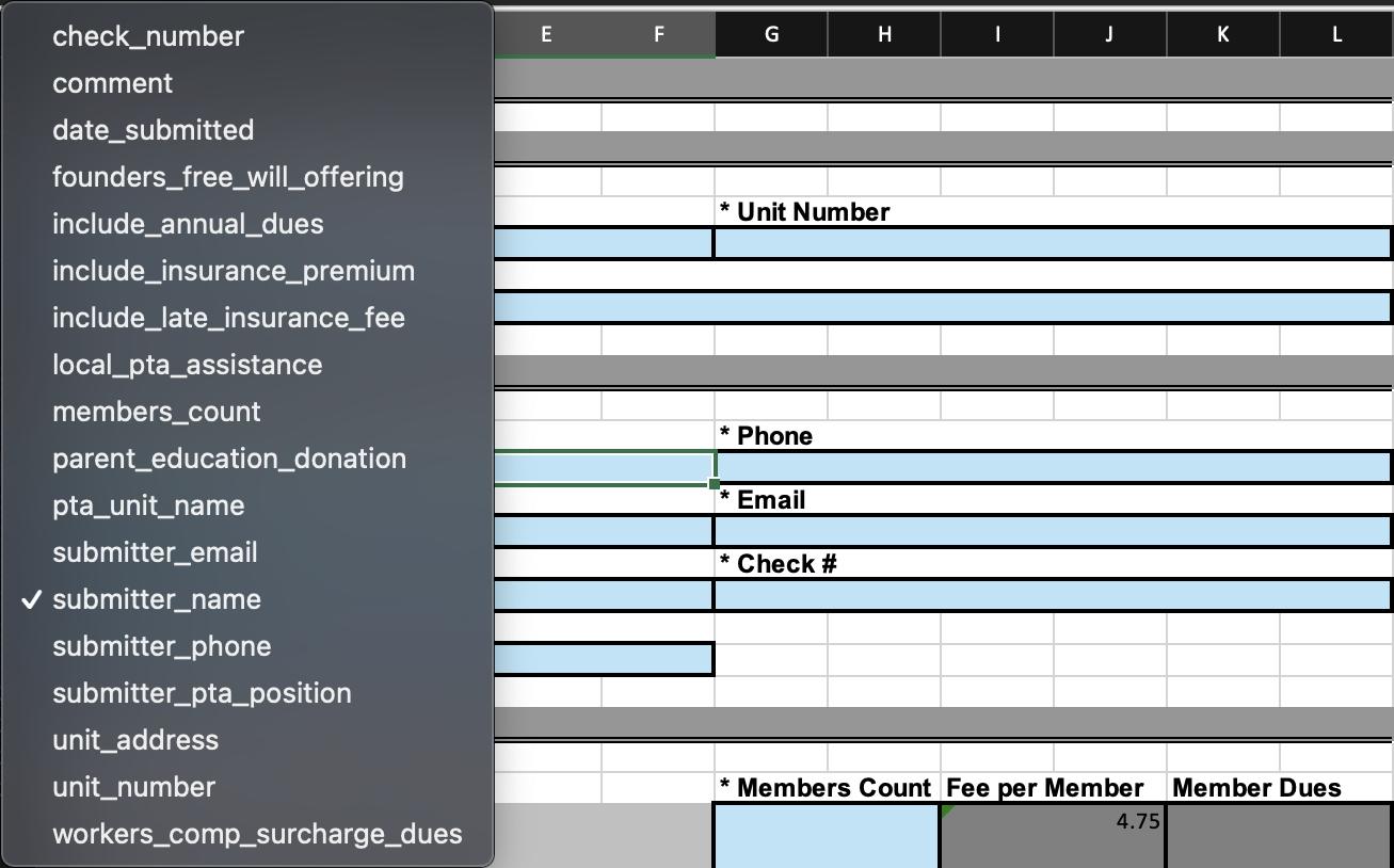 Named ranges in Excel