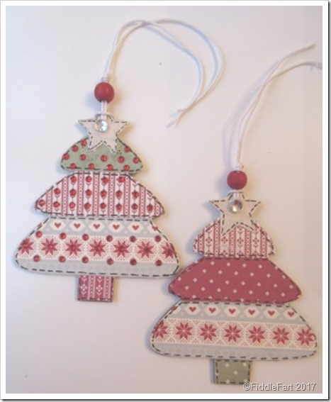 Nordic Wooden Christmas Tree Tags