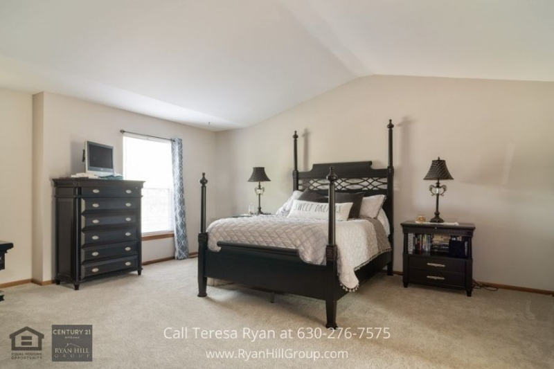 Home for sale in Oswego IL- Relax and recharge in any of the cozy bedrooms of this Oswego IL home.