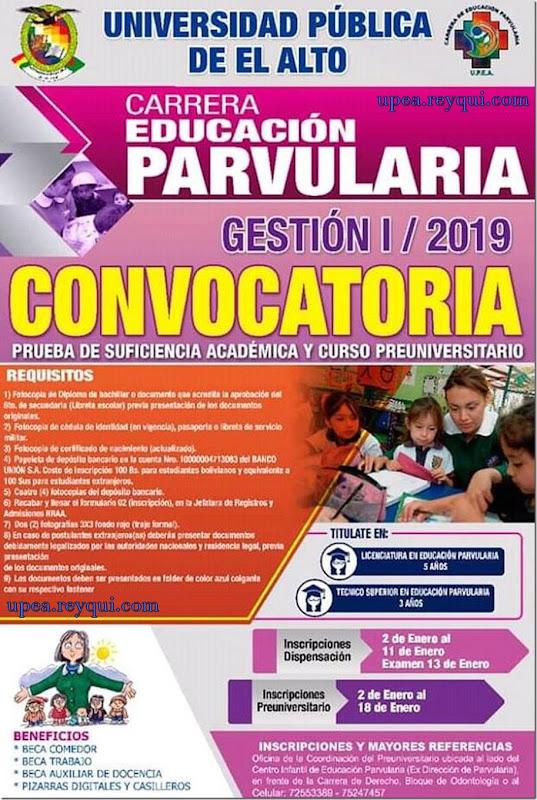 Convocatorias UPEA 2019