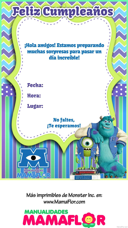 Tarjeta-Invitacion-Monster-Inc-University-Imprimibles-Personalizado