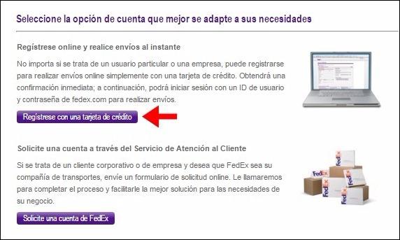 Abrir mi cuenta FedEx - 279
